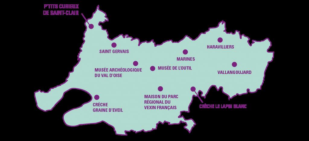 Carte des spectacles à Vexin 2021